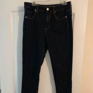 American Eagle High rise dark wash jeans 12